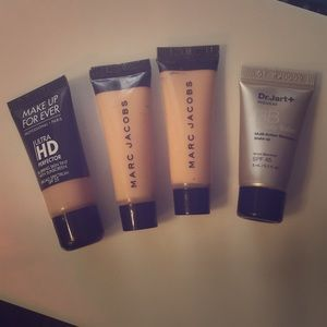 Lot of 4 sample foundations